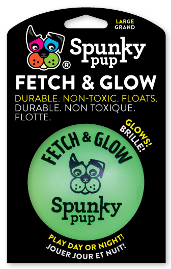 Green Fetch & Glow Ball