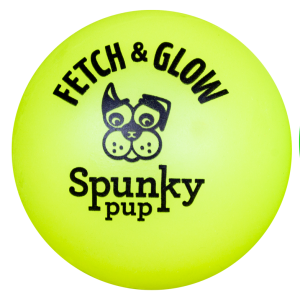 Yellow Fetch & Glow ball