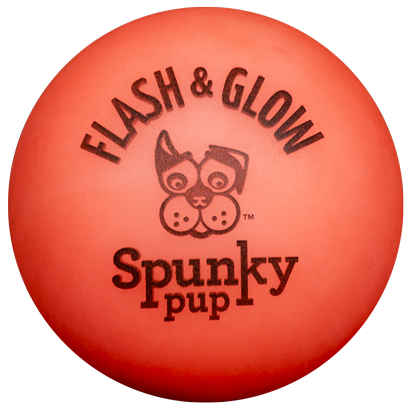 Red orange Flash & Glow ball