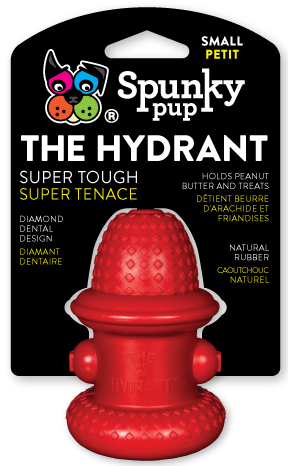 Red rubber fire hydrant