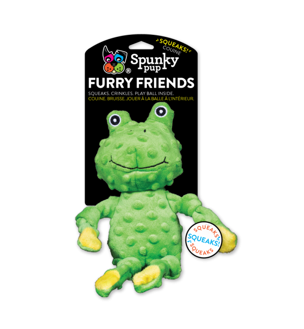 Frog Furry Friends is a medium sized green plush toy