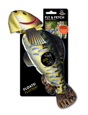 Fly & Fetch Fish shaped toy made from nylon