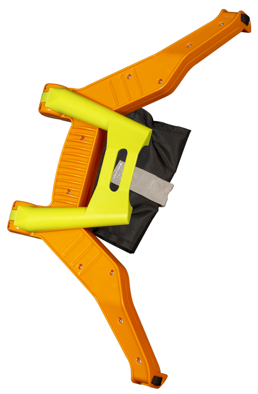 Spunky Pup Bow Blaster is shaped like a real bow with an orange body and lime green accents