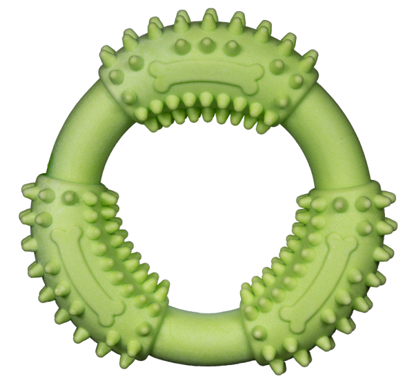 Gnaw Guard Foam Small Ring is lime green