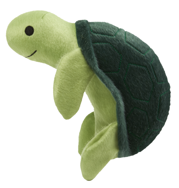 Sea Plush Turtle is light and dark green