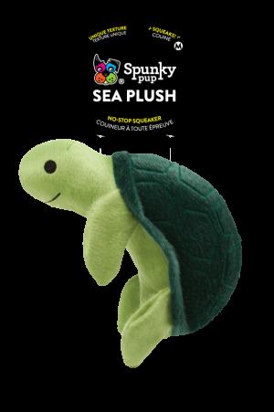 Sea Plush Turtle is light and dark green