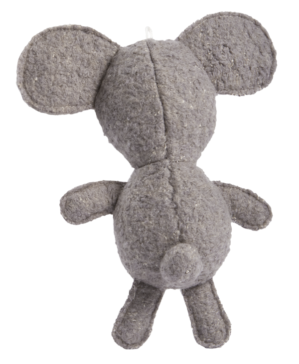 Woolies Koala shaped toy, grey with white accents - back side