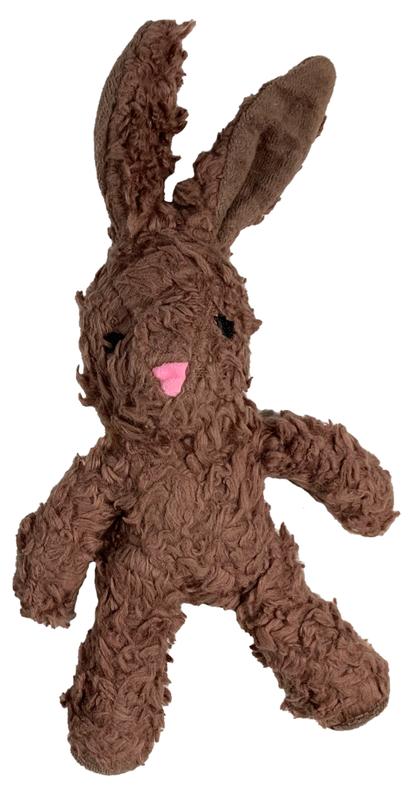 Organic Cotton bunny shaped plush toy with brown fur