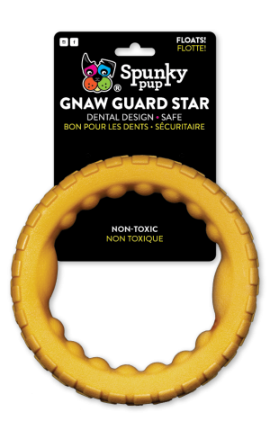 Gnaw Guard Foam Large Ring is dark orange