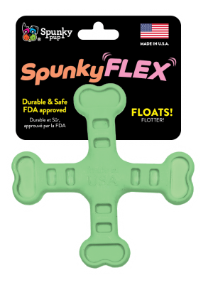 SpunkyFlex Cross shaped toy, green