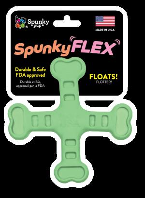 SpunkyFlex Cross shaped toy, green