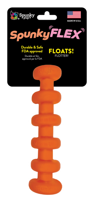 SpunkyFlex Stick shaped toy, orange