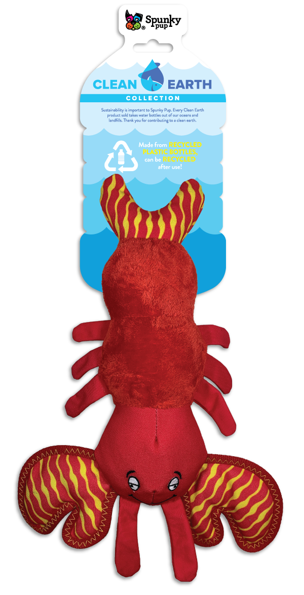 Clean Earth Lobster, red plush toy