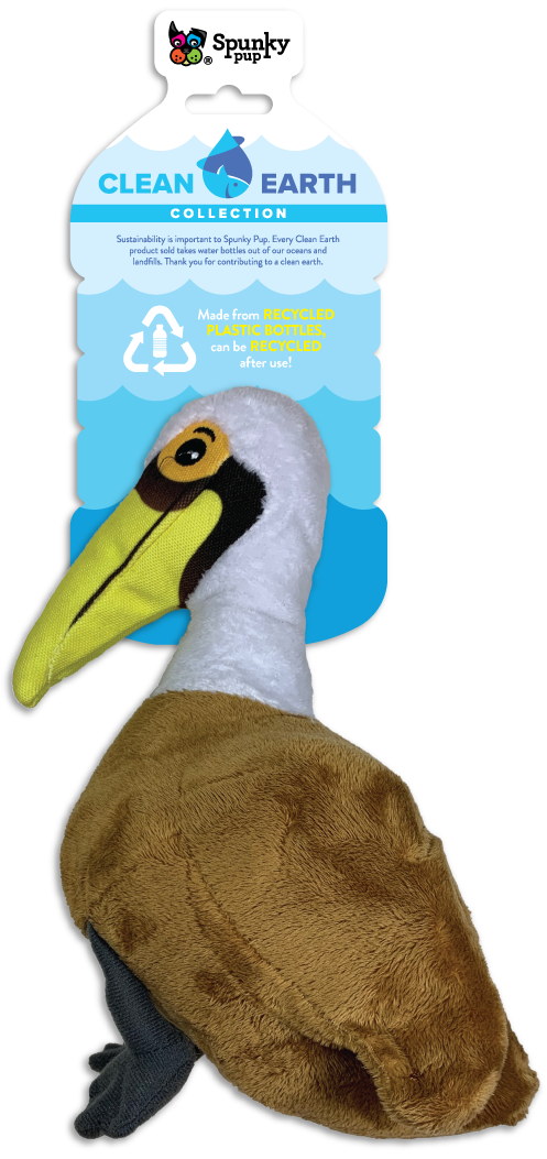 Clean Earth Seagull, brown and white plush toy