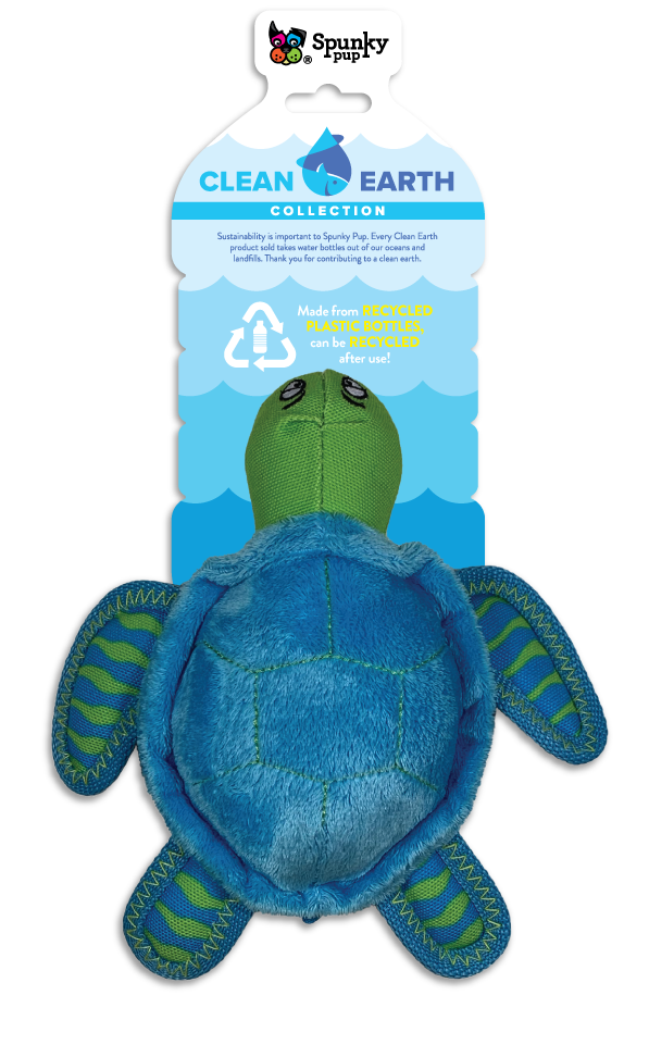 Clean Earth Turtle, blue and green plush toy