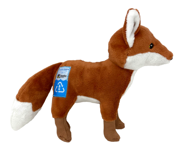 Clean Earth Fox, light brown and white plush toy