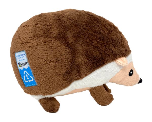 Clean Earth Hedgehog, light brown and white plush toy