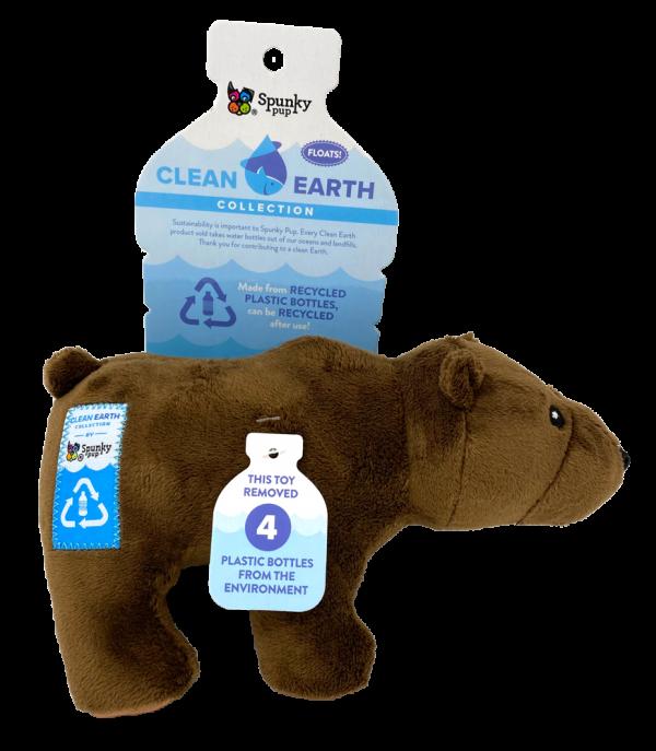 Clean Earth Bear, brown plush toy